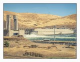 The Dalles Dam on the Columbia River from Amtrak's Empire Builder train